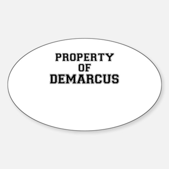 Property of DEMARCUS Decal