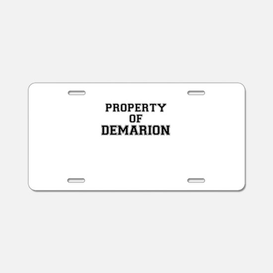 Property of DEMARION Aluminum License Plate