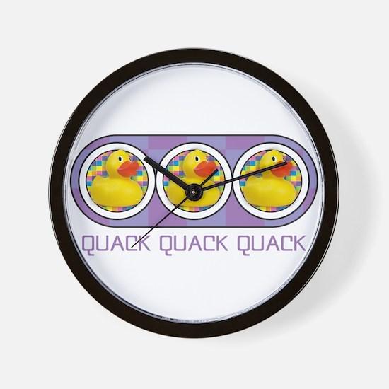Quack Quack Quack Wall Clock