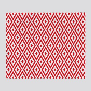 Red And White Diamonds Throw Blanket