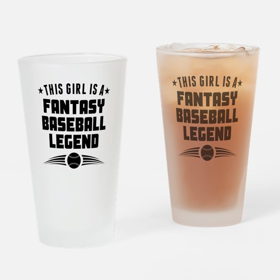 This Girl Fantasy Baseball Legend Drinking Glass