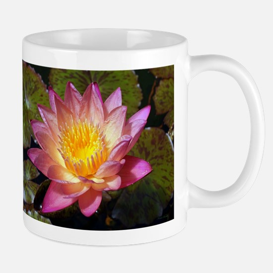 Lovely Pink Water Lily Mugs
