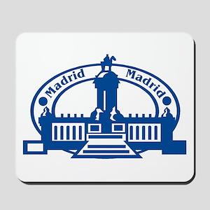 Madrid Passport Stamp Mousepad