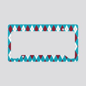 Turquoise and Red Harlequin Diamond Argyle Pattern