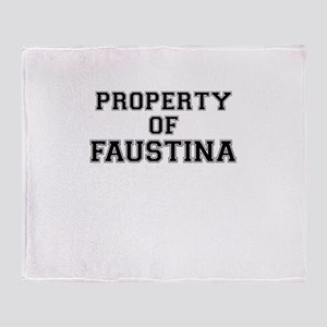 Property of FAUSTINA Throw Blanket