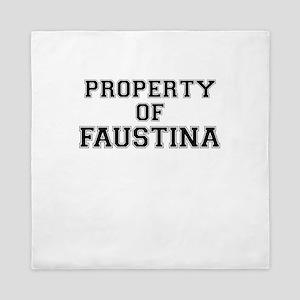 Property of FAUSTINA Queen Duvet