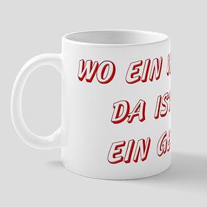 Wo ein Wille ist... (red) Mug