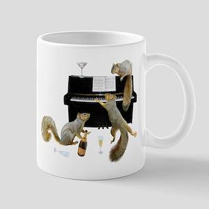 Squirrels at the Piano Mugs