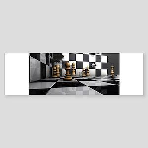 Chess King Play Bumper Sticker