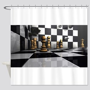Chess King Play Shower Curtain