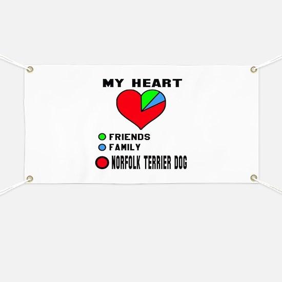 My Heart, Friend, Family Norfolk Terrier Do Banner