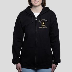 Proud U.S. Army Aunt Women's Zip Hoodie