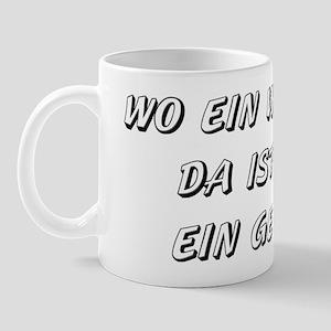Wo ein Wille ist... (black) Mug