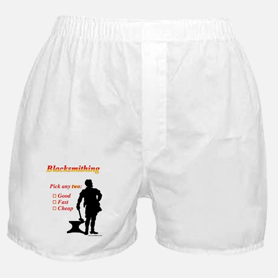 Pick two, good fast cheap Boxer Shorts
