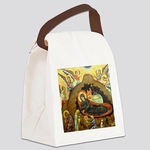 Nativity by Guido of Siena Canvas Lunch Bag