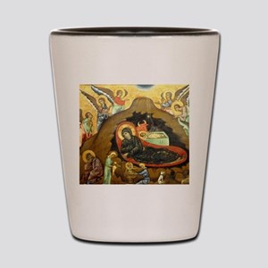 Nativity by Guido of Siena Shot Glass