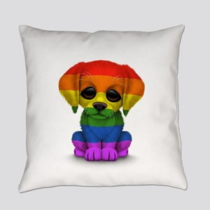 Cute Gay Pride Rainbow Flag Puppy Dog Everyday Pil
