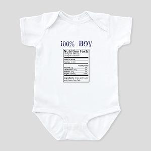 100% Boy Infant Bodysuit