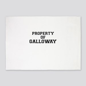 Property of GALLOWAY 5'x7'Area Rug