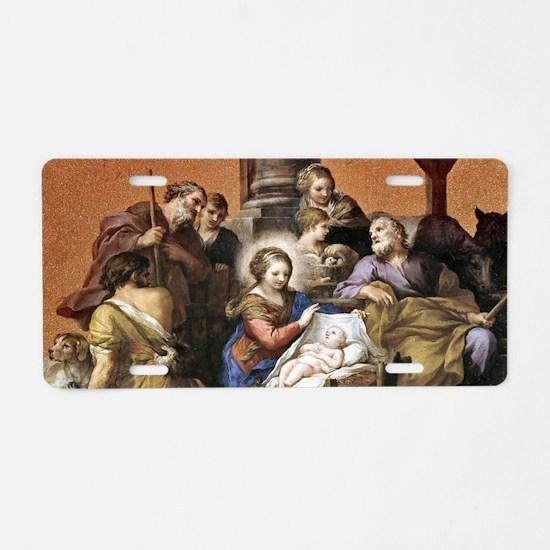 Nativity by Pietro da Corto Aluminum License Plate