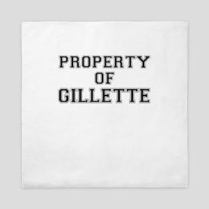 Property of GILLETTE Queen Duvet