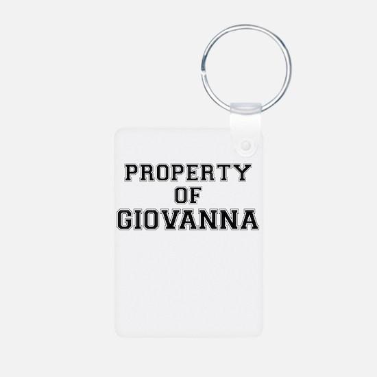Property of GIOVANNA Keychains