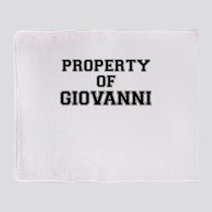 Property of GIOVANNI Throw Blanket