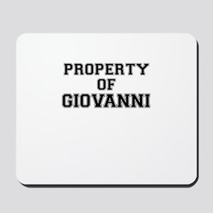 Property of GIOVANNI Mousepad