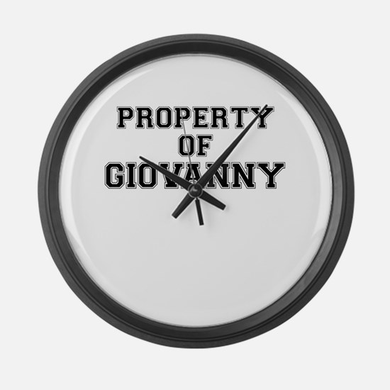 Property of GIOVANNY Large Wall Clock