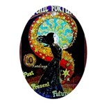 Psychic Fortune Teller Oval Ornament