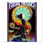 "Psychic Fortune Teller Square Car Magnet 3"" x 3"""