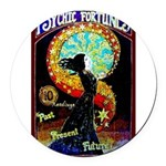 Psychic Fortune Teller Round Car Magnet
