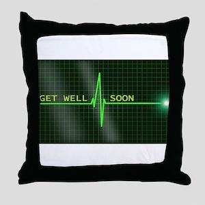 Get Well Soon ERG Throw Pillow