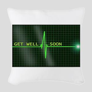 Get Well Soon ERG Woven Throw Pillow