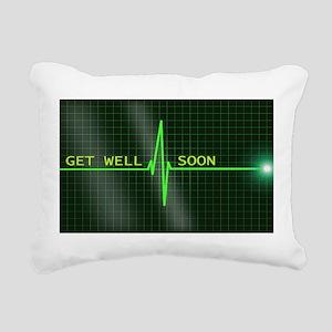 Get Well Soon ERG Rectangular Canvas Pillow