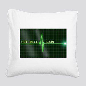 Get Well Soon ERG Square Canvas Pillow