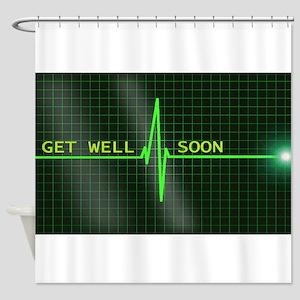 Get Well Soon ERG Shower Curtain