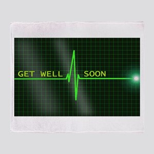 Get Well Soon ERG Throw Blanket