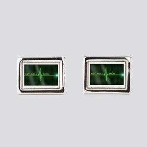 Get Well Soon ERG Rectangular Cufflinks