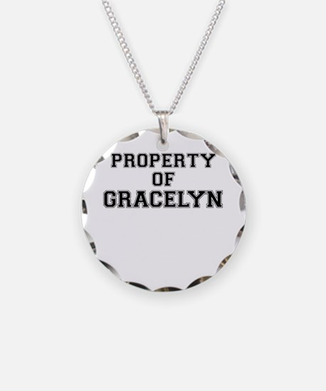 Property of GRACELYN Necklace Circle Charm