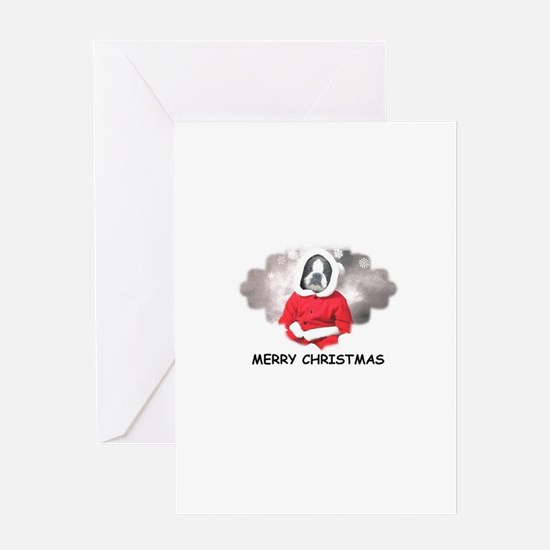 MERRY CHRISTMAS BOSTIN BABY Greeting Card