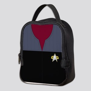 Star Trek DS9 Red No Rank Neoprene Lunch Bag