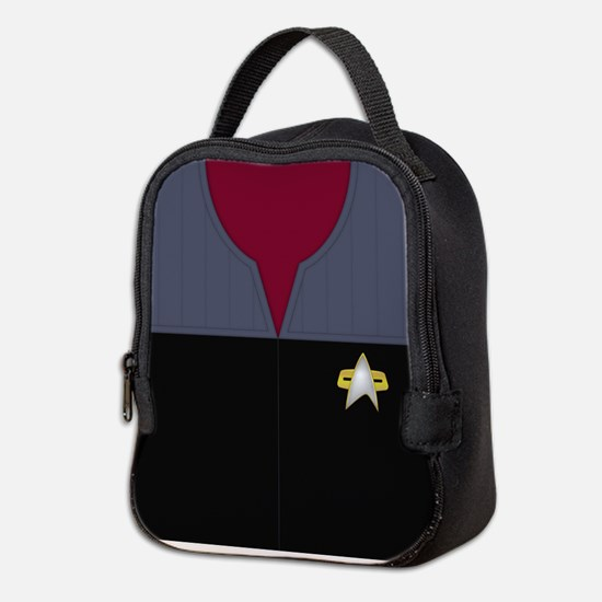 Star Trek DS9 Red No Rank Neoprene Lunch Bag
