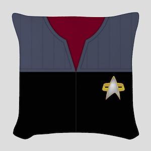 Star Trek DS9 Red No Rank Woven Throw Pillow
