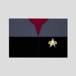Star Trek DS9 Red No Rank Rectangle Magnet