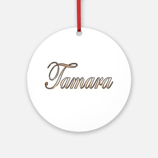 Cute Tamara Round Ornament
