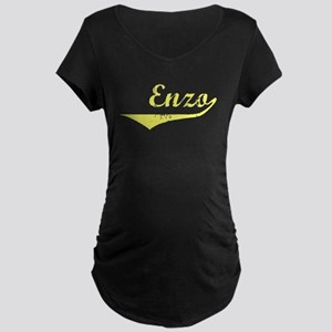 Enzo Vintage (Gold) Maternity Dark T-Shirt