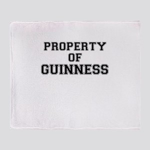 Property of GUINNESS Throw Blanket