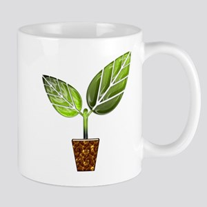Sprouting Leaves in Pot Mugs