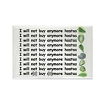 Buy more hostas Rectangle Magnet (100 pack)